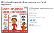 Feelings Poster with Body Language