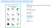 Pressure Poster   Sensory Therapy Room