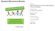Student movement breaks