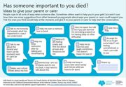 Bereavement ideas for parent and carers